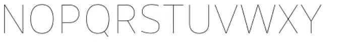 Uniman UltraLight Font UPPERCASE