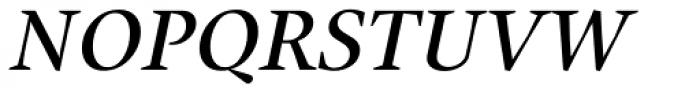 Union Medium Small Caps Italic Font UPPERCASE