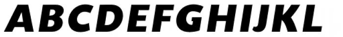 Unita ExtraBold Oblique Font UPPERCASE