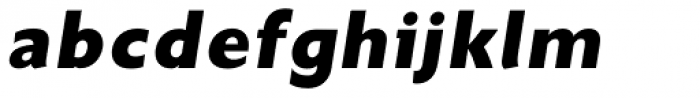 Unita ExtraBold Oblique Font LOWERCASE