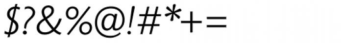 Unita Light Italic Font OTHER CHARS