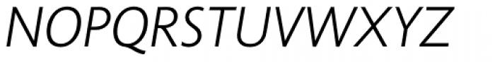 Unita Light Italic Font UPPERCASE