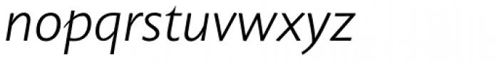 Unita Light Italic Font LOWERCASE