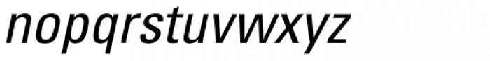 Univers 57 Condensed Oblique Font LOWERCASE