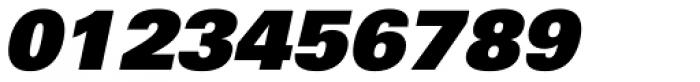 Univers 85 ExtraBlack Oblique Font OTHER CHARS
