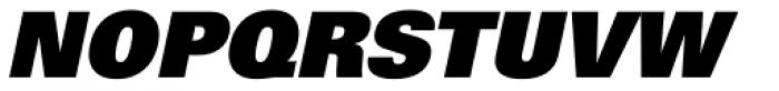 Univers 85 ExtraBlack Oblique Font UPPERCASE