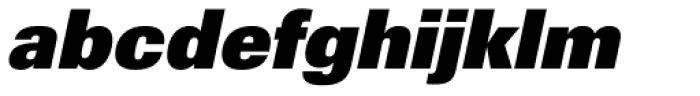 Univers 85 ExtraBlack Oblique Font LOWERCASE