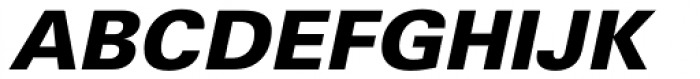 Univers Cyrillic 76 Black Oblique Font UPPERCASE