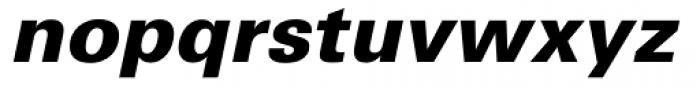 Univers Cyrillic 76 Black Oblique Font LOWERCASE