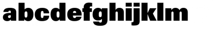 Univers ExtraBlack Font LOWERCASE
