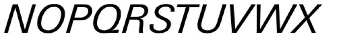 Univers Next Paneuropean W1G 431 Italic Font UPPERCASE