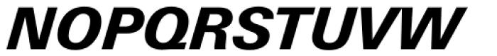 Univers Next Paneuropean W1G 731 Heavy Italic Font UPPERCASE