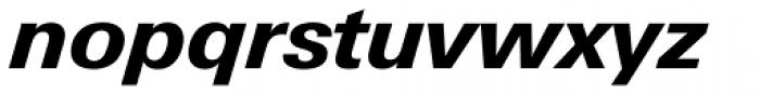 Univers Next Paneuropean W1G 731 Heavy Italic Font LOWERCASE