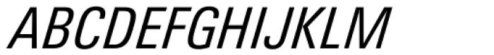 Univers Next Pro 421 Condensed Italic Font UPPERCASE