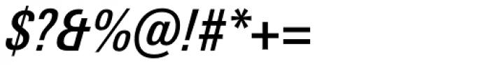 Univers Next Pro 521 Condensed Medium Italic Font OTHER CHARS