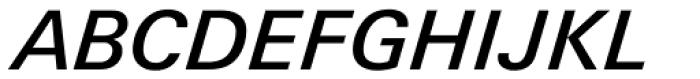 Univers Next Pro 531 Basic Medium Italic Font UPPERCASE