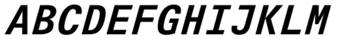 Univers Next Pro 631 Typewriter Bold Italic Font UPPERCASE