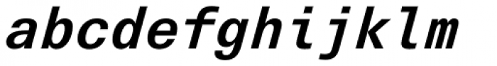Univers Next Pro 631 Typewriter Bold Italic Font LOWERCASE