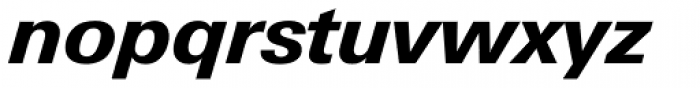 Univers Next Pro 731 Basic Heavy Italic Font LOWERCASE