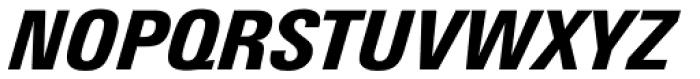 Univers Next Pro 821 Condensed Black Italic Font UPPERCASE