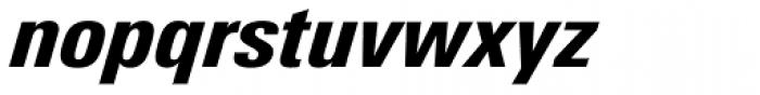 Univers Next Pro 821 Condensed Black Italic Font LOWERCASE