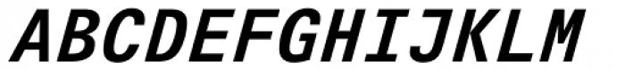 Univers Next Typewriter Pro Bold Italic Font UPPERCASE