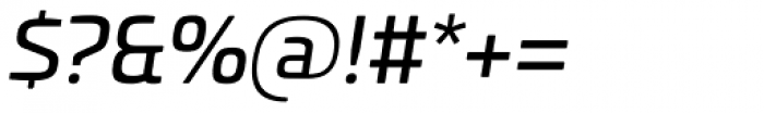 Univia Pro Italic Font OTHER CHARS