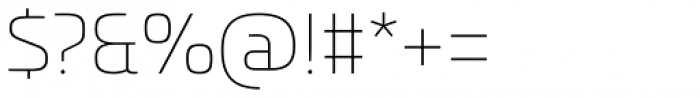 Univia Pro Thin Font OTHER CHARS