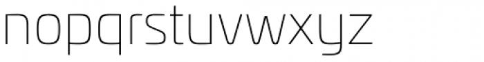 Univia Pro Thin Font LOWERCASE