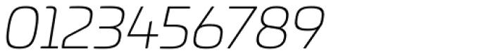 Univia Pro UltraLight Italic Font OTHER CHARS