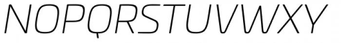 Univia Pro UltraLight Italic Font UPPERCASE