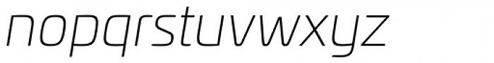 Univia Pro UltraLight Italic Font LOWERCASE