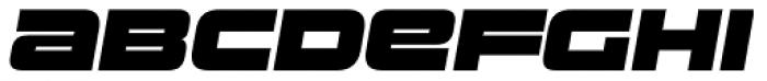 Uniwars Black Italic Font UPPERCASE