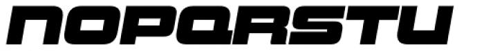 Uniwars Black Italic Font LOWERCASE