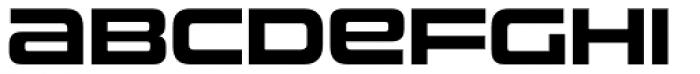 Uniwars Bold Font LOWERCASE