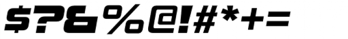 Uniwars Heavy Italic Font OTHER CHARS