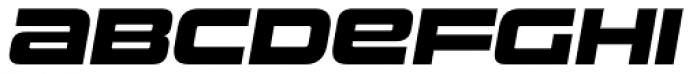 Uniwars Heavy Italic Font LOWERCASE