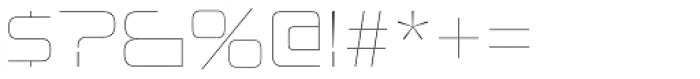 Uniwars UltraLight Font OTHER CHARS