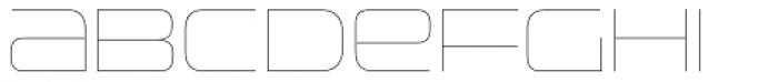 Uniwars UltraLight Font UPPERCASE