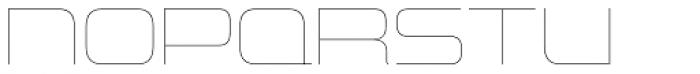 Uniwars UltraLight Font LOWERCASE