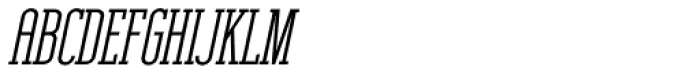 Unknown Caller BTN SC Bold Oblique Font UPPERCASE