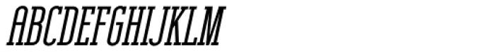 Unknown Caller BTN SC ExtraBold Oblique Font UPPERCASE