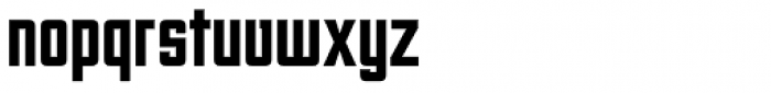 Unovis EF Black XCon Font LOWERCASE