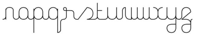 Unremitting Font LOWERCASE