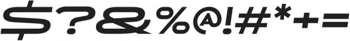 Uomo Wide Bold Italic otf (700) Font OTHER CHARS