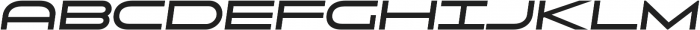 Uomo Wide Bold Italic otf (700) Font LOWERCASE