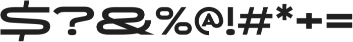 Uomo Wide Bold otf (700) Font OTHER CHARS