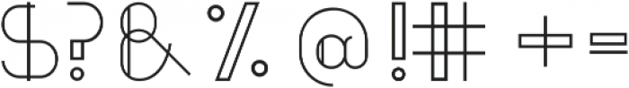 Uppercase ttf (400) Font OTHER CHARS