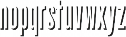 Upstater Shadow Regular ttf (400) Font LOWERCASE