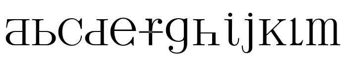 UPPERCASE & lowercase Font LOWERCASE